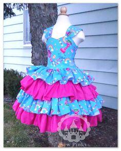 Trolls Birthday Dress Princess Poppy Troll Dress Pink by SewPinky