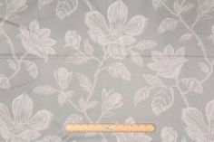 2.5 Yards Richloom Floral Printed Cotton Drapery Fabric in Silver Sage