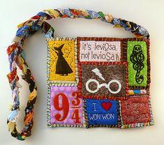 Harry Potter Leviosa Patchwork Tote Bag. $155.00, via Etsy.