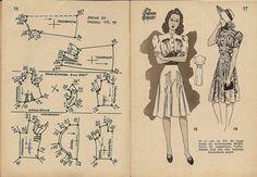 1940s dress pattern draft 11