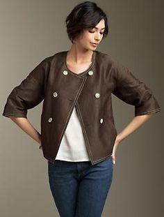 "Talbot's ""Jackie fit"" silk jacket.  On sale."
