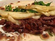 طريقة عمل شاورما اللحم مع طريقة عمل خبز التورتيلا وصوص الشاورما الشهية Beef, Food, Meat, Meals, Ox, Yemek, Eten, Steaks, Steak