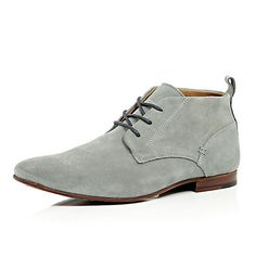 Grey suede chukka boots £60 #RImenswear