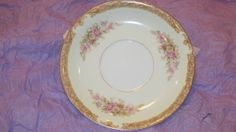 Noritake Saucer Floral Print Gold Scroll 1947 Occupied Japan Komoru by NonisVintageDelights, $8.00