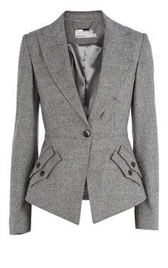 Karen Millen Texture tailoring jacket grey