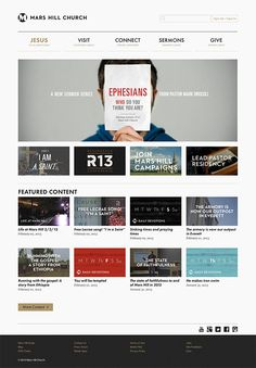 Great way to display sermon series! People will want to click on ...