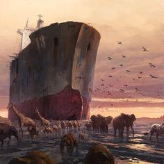 "Pierre Droal, ""Noah's Ark Reloaded"" - 2013 (digital)"