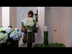 How to make floral arrangement    Tall wedding arrangement   How to make a tall centerpieces - YouTube