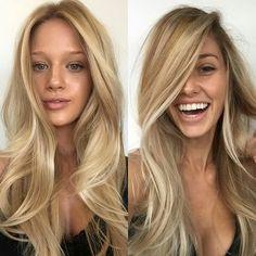 Long blonde hair inspiration. #longhair #hairstyle #blonde #fabfashionfix #fabfashionfix