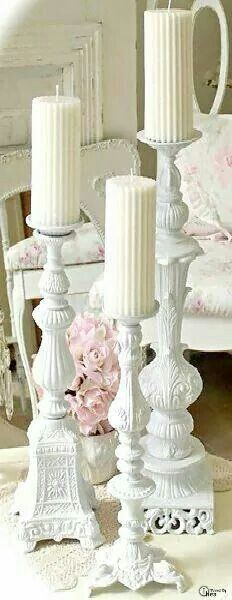 Shabby chic candles