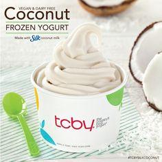 It's here!!! Vegan & Dairy FREE Coconut Fro Yo! Made with Silk coconut milk. #TcbySilkCoconut
