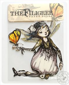 She is awesome...Articulated Paper Doll Dragonfly Fairy Paper Doll by theFiligree, $10.00