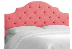 Henley Tufted Headboard, Coral