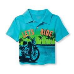 Toddler Boys Short Sleeve Graphic Jersey Polo