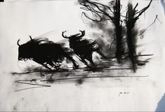 run - Martin Eide Drawing Animals, Animal Drawings, Charcoal Drawing, Running, Art, Racing, Draw Animals, Keep Running, Kunst