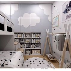 """51 Likes, 3 Comments - @mini_inspirasjon on Instagram: """"This is sooo cool! Design at its best! @sun_and_cloud_bali #design #boysroom #gutterom #girlsroom…"""""""