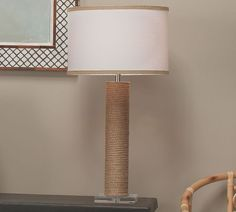 Larkspur Jute Table Lamp   Pottery Barn Pottery Barn Table, Pottery Barn Teen, Free Interior Design, Interior Design Services, Jute, Nautical Design, Ceramic Table Lamps, Shop Lighting, Drum Shade