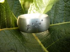 """My Dandelion"" ring with diamonds in sterling silver. manual work (Nasteba)"