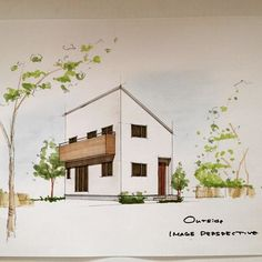 House 2, Minimalism, Diy And Crafts, Around The Worlds, Sketches, Watercolor, Photo And Video, Architecture, Sketchbooks