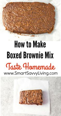 Recipe: How to Make Boxed Brownie Mix Taste Homemade | Homemade brownies from scratch are one of the easiest desserts to make but sometimes you just don't have time for all the measuring and melting. That's why I love using these brownie mix ideas that result in fresh from the bakery flavor with that crispy top we all love.