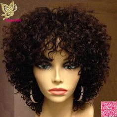 Kinky Curly Wigs For African American Women The Same As The Hairstyle In The Picture - Wigs For Black Women - Lace Front Wigs, Human Hair Wigs, African American Wigs, Short Wigs, Bob Wigs Short Curly Wigs, Kinky Curly Wigs, Human Hair Wigs, Short Afro, Curly Bob, Medium Curly, Kinky Hair, Hair Medium, Long Curly