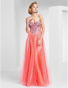 f74991970 A-line Sweetheart floor-length Tulle Evening Dress