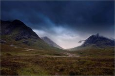 When storm is arriving on Glencoe and Rannoch moor. Scotland