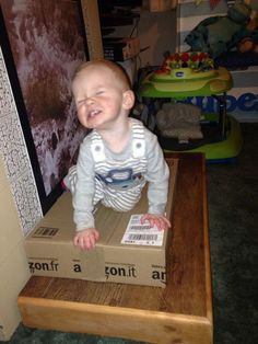 """I wouldn't let him open the Amazon box."" Submitted By: Patricia C. Location: United Kingdom"