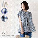 【SO エスオー】<br>コットンボイル ギャザー 切り替え 半袖 ブラウス (sb-0105) レディース  春 夏 コーディネート ファッション