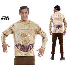 #Camiseta #C3PO #Star Wars Camiseta robot C3PO de la Guerra de las Galaxias