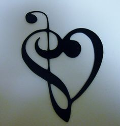 Ebay-  METAL WALL ART DECOR MUSIC HEART NOTES MUSICAL CLEF Mini Version
