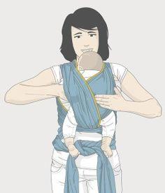 passo a passo de como colocar o bebe no wrap sling mamae tagarela (5) Anime, Art, Kangaroos, Baby Tips, Diy Home, Step By Step, Bebe, Art Background, Kunst