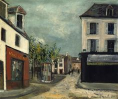 Maurice Utrillo La Place Du Tertre oil painting reproductions for sale