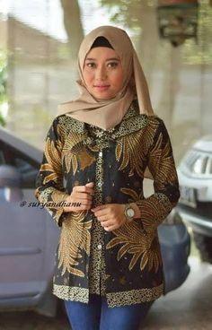 30 Model Baju Batik Guru Seragam Terbaru - Model Baju Muslim Kebaya Modern b82f3cf375