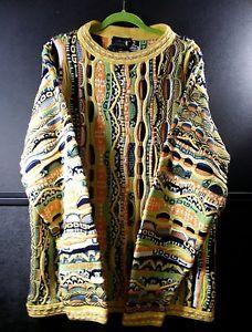 Vintage Original Retro Neon Colors Monogram Coogi Sweater Coogi Australia EXLNT