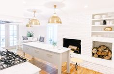 Casual kitchen perfection by Nashville's @pencilpco featuring the Large Eugene Pendants | shop now: http://www.circalighting.com/search_results.aspx?q=eugene