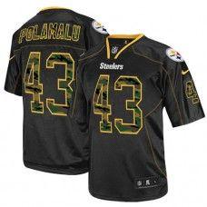 NFL Men's Elite Nike  Pittsburgh Steelers #43 Troy Polamalu Camo Fashion Black Jersey  $129.99