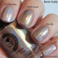 Color Club Cherubic ; ILNP Iconic ; Colors by Llarowe (CbL) Blonde Ambition ; Color Club Cherubic ; 9/26/14