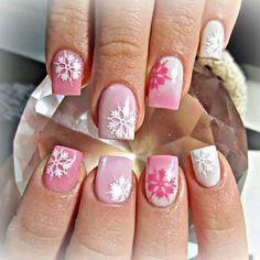 snowflakes by stephaniedoesnails #nail #nails #nailart