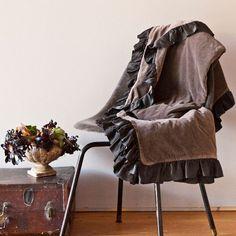 Satin Velvet Throw Blanket in Choice of Color from PoshTots