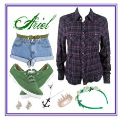 """""""Ariel 2.0"""" by mali-likes ❤ liked on Polyvore featuring Keds, Levi's, Chrome Hearts, Lauren Ralph Lauren, Vjera Vilicnik and Anne Sisteron"""