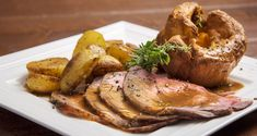 Sunday roast by Greek chef Akis Petretzikis. A super tender, juicy and delicious roast served with roast potatoes, pudding and your own special homemade gravy!