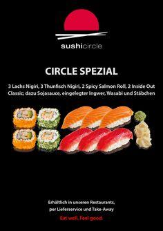 Sushi Circle, Restaurant, Ethnic Recipes, Food, Tuna, Salmon, Simple, Diner Restaurant, Essen