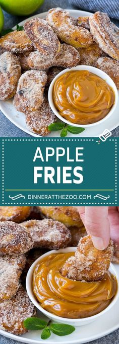 Apple Fries Recipe Forget potato french fries, these apple fries are where it's at! Part apple pie, part churro, these treats are the perfect dessert or party snack. Apple Dessert Recipes, Fruit Recipes, Fall Recipes, Sweet Recipes, Cooking Recipes, Healthy Apple Desserts, Apple Recipes Dinner, Fried Egg Recipes, Deep Fried Desserts