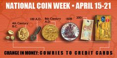 What: National Coin Week. When: April 15-21. Who: American Numismatic Association.