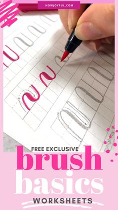 Everything you need to get started with Calligraphy, this beautiful and ancient art form with a brush pen + a FREE guide of basic strokes  #brushpens #brushcalligraphy #brushlettering #brushart #calligraphy #brushpencalligraphy #brushpenart