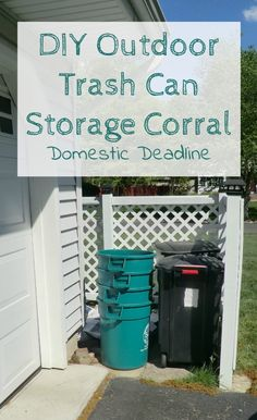 22 best trash can corrales and trash can stands images gardens rh pinterest com