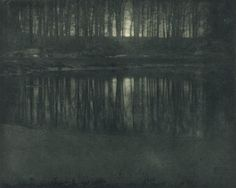 The Pond - Moonrise, 1904 - Edward Steichen/The Metropolitan Museum of Art, Alfred Stieglitz Collection, courtesy of the National Gallery Edward Steichen, National Gallery Of Art, Art Gallery, Alfred Stieglitz, Nocturne, Joan Miro, History Of Photography, Art Photography, Outdoor Photography