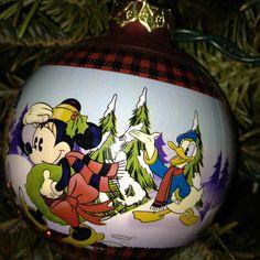 Mickey & Donald Christmas Ornament
