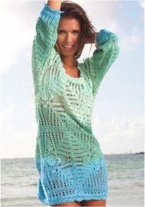 Dip Dyed Crochet Dress Ocean